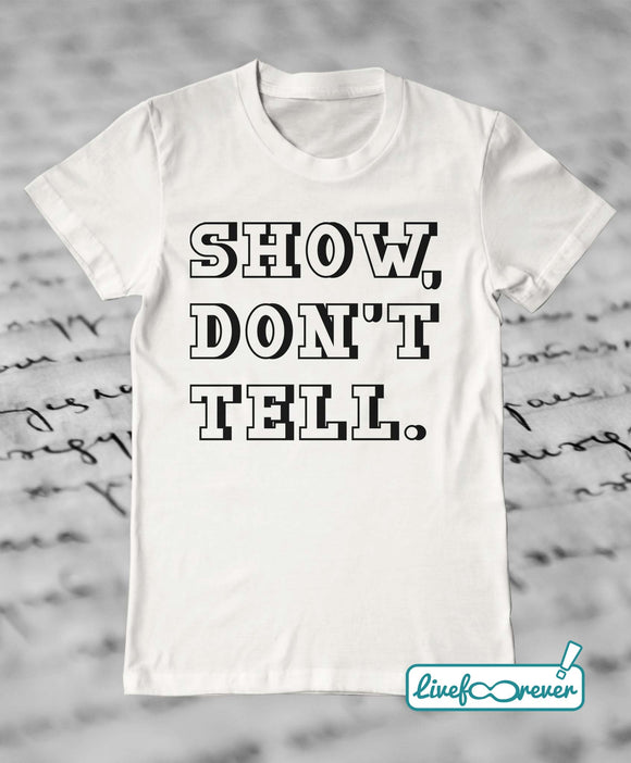 T-shirt uomo – Show, don't tell (comics variant)