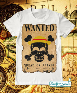 T-shirt uomo – Wanted – the captain