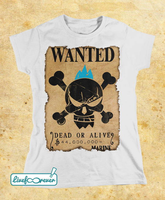 T-shirt donna – Wanted – the shipwright