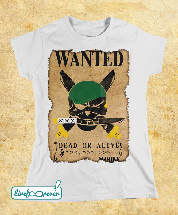 T-shirt donna – Wanted – the swordsman