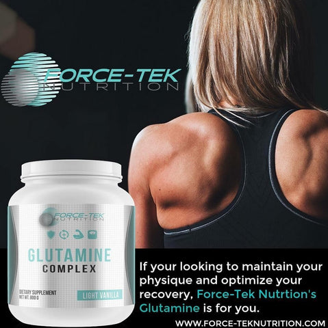 glutamine complex, if your looking to maintain your physique and optimize your recovery, force-teknutrition's glutamine is for you.