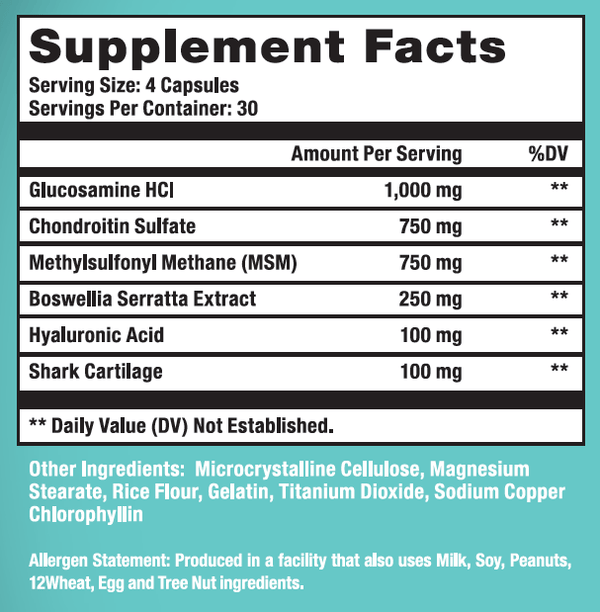 FT Joint Support Supplement Facts