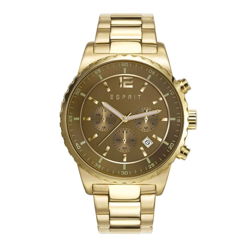 Esprit Es108231002 Theon Gold Mens Watch Chronograph