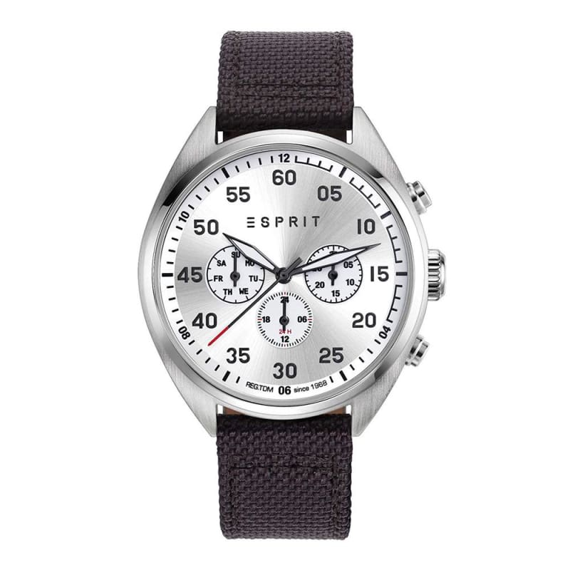 Esprit Es108791004 Matthew Silver Brown Mens Watch