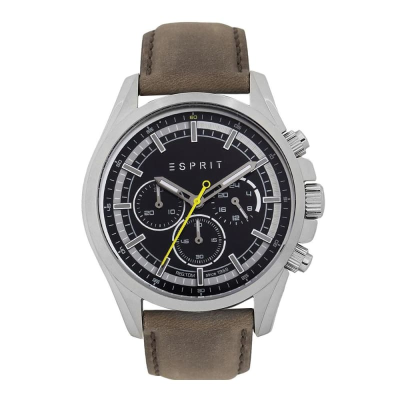 Esprit Es109161003 Black Brown Mens Watch Chronograph