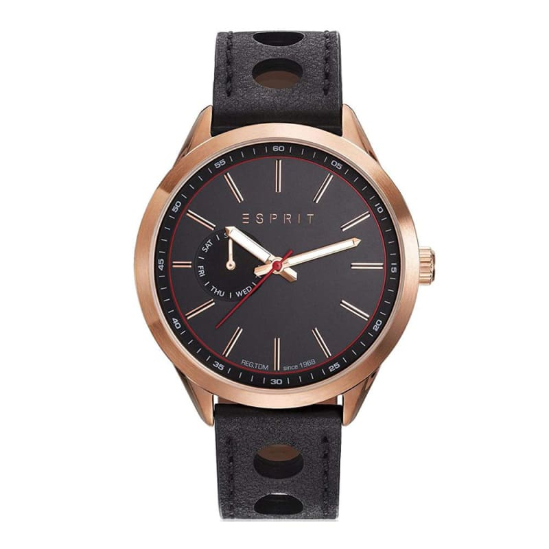Esprit Es109211002 Rosegold Black Mens Watch