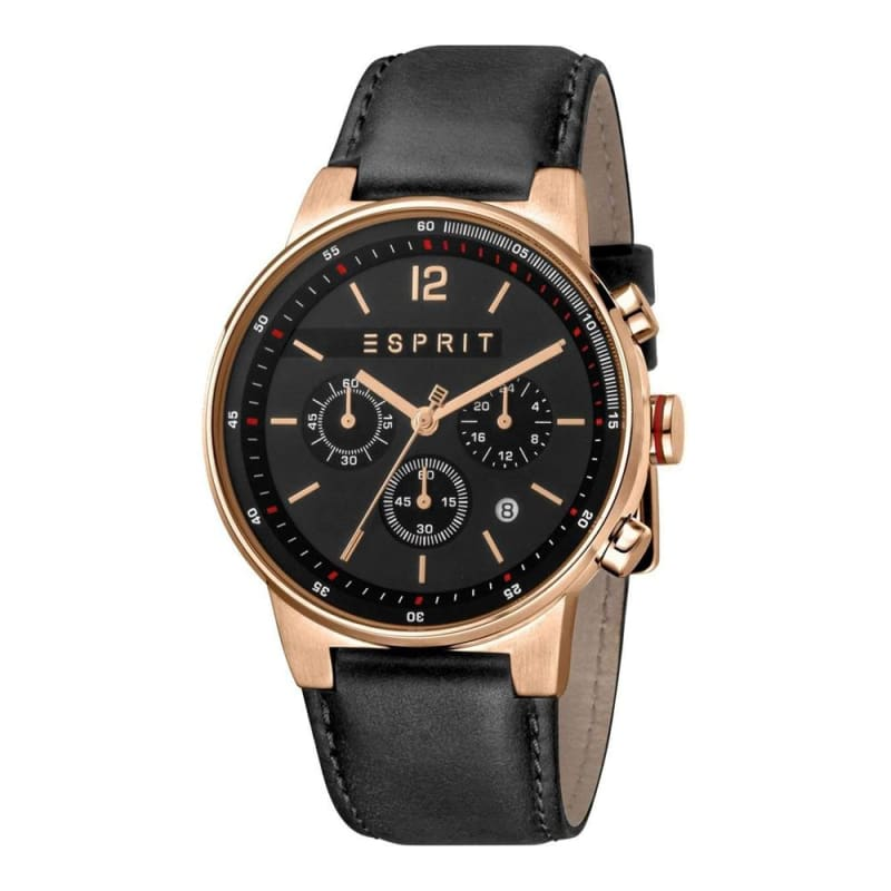 Esprit Es1G025L0035 Equalizer Black Rosegold Mens Watch Chronograph