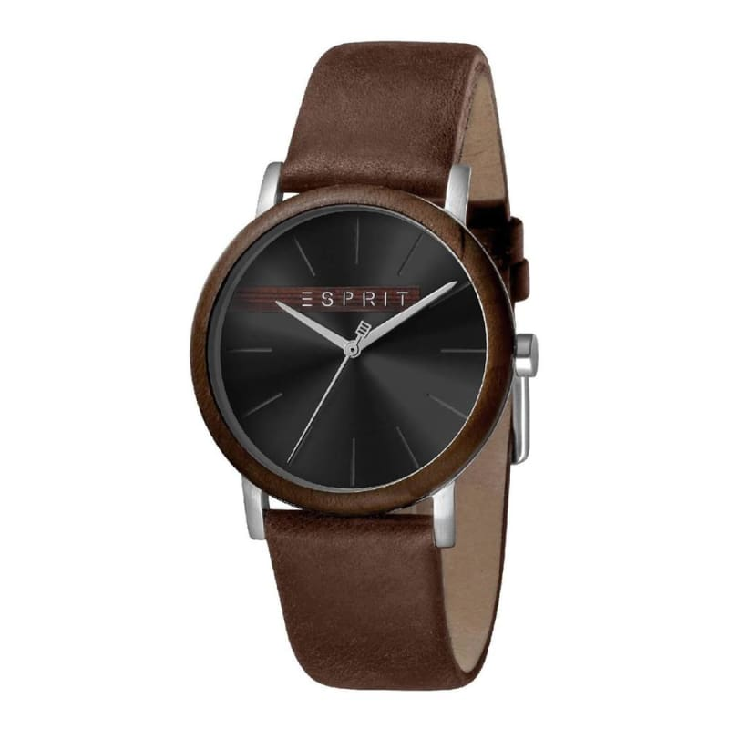 Esprit Es1G030L0025 Plywood Black Brown Mens Watch