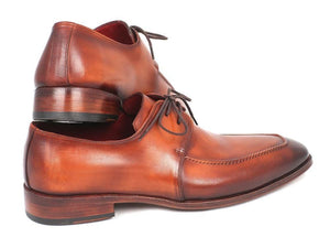 Paul Parkman Brown Leather Apron Derby Shoes For Men (Id#33Sx92)