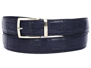 Paul Parkman Mens Navy Genuine Crocodile Belt (Id#b05-Nvy)
