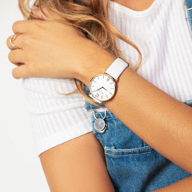 Eila Cherie Melinda Blanca watch on a womans wrist