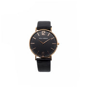 Eila Cherie womens melinda watch in the black color onyx with rosegold casing