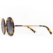 Eila Chérie Honey tortoise round sunglasses temple view