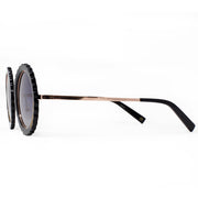 Eila Chérie Black polarized round sunglasses side view