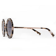 Eila Chérie white tortoise round sunglasses side view