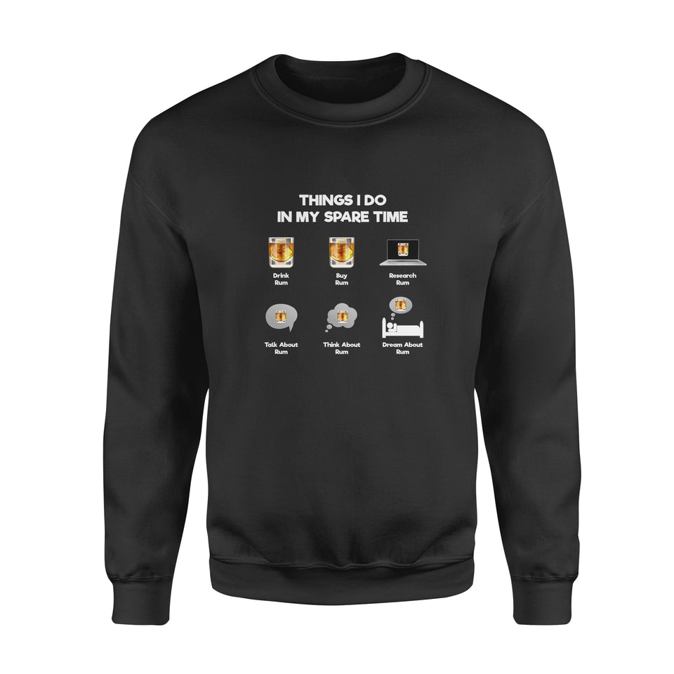 Spare Time With Rum - Standard Crew Neck Sweatshirt