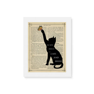 "Cats & Books - Matte Canvas (1.25"")"