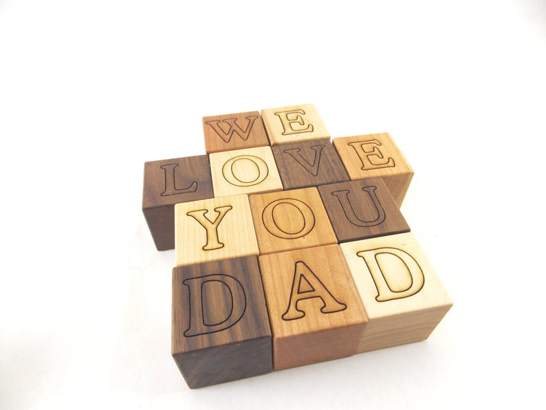 Personalized Wooden Blocks Kid Toys Wooden Toys
