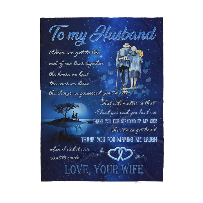 To my husband - Sherpa Blanket