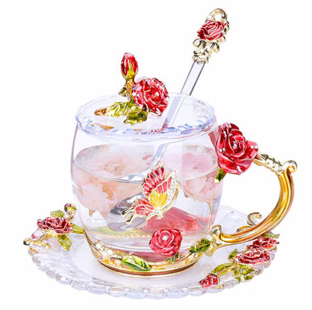 Royal Rose Crystal Coffee Cup