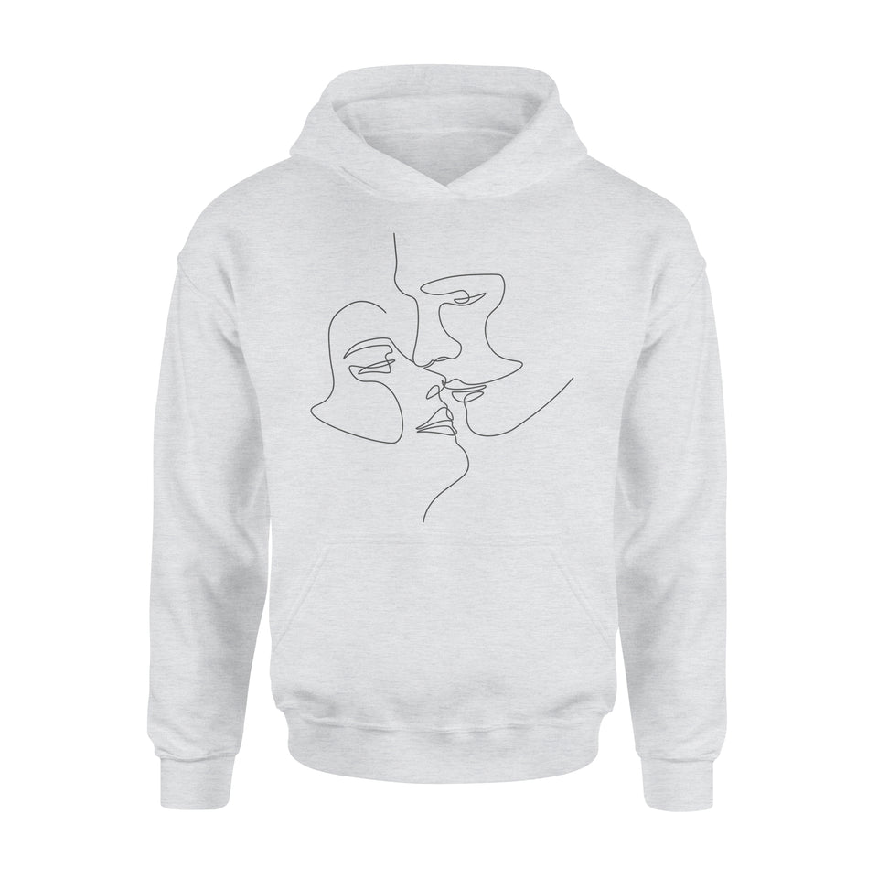Couple illustration - Standard Hoodie