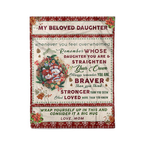 My beloved daughter - Fleece Blanket