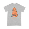 Cat with Christmas lights - Standard T-shirt