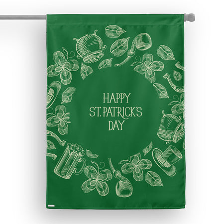 Happy Patrick Day House Flag
