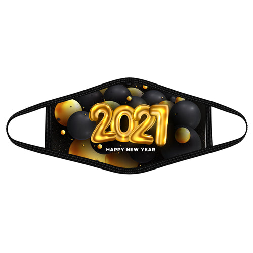 2021 Golden &Black balloons - Polyblend Face Mask