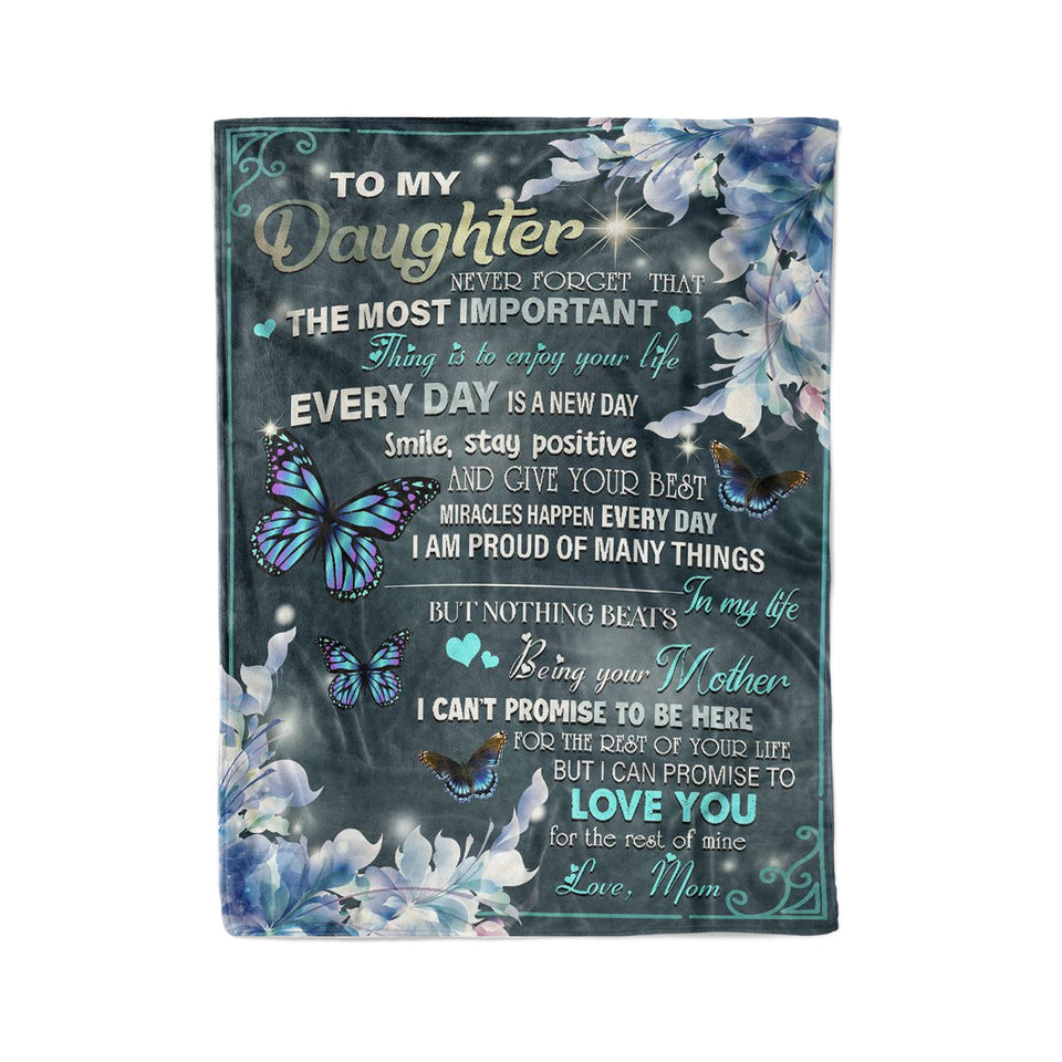 From mom to daughter - Fleece Blanket
