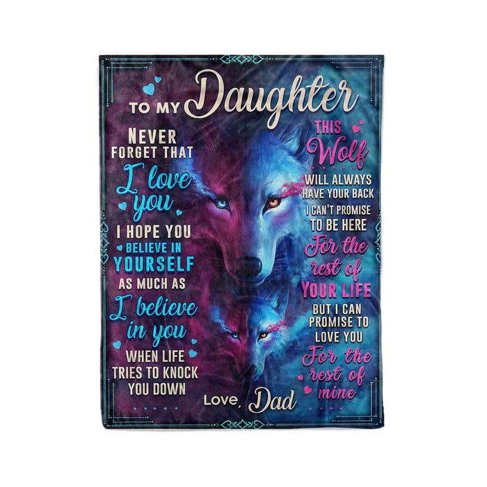 To My Daughter Wolf - Fleece Blanket
