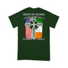 Irish By Blood American By Birth Patriot By Choice – Irish American Shirt, St Patrick's day, Patriot Cross - Standard T-shirt