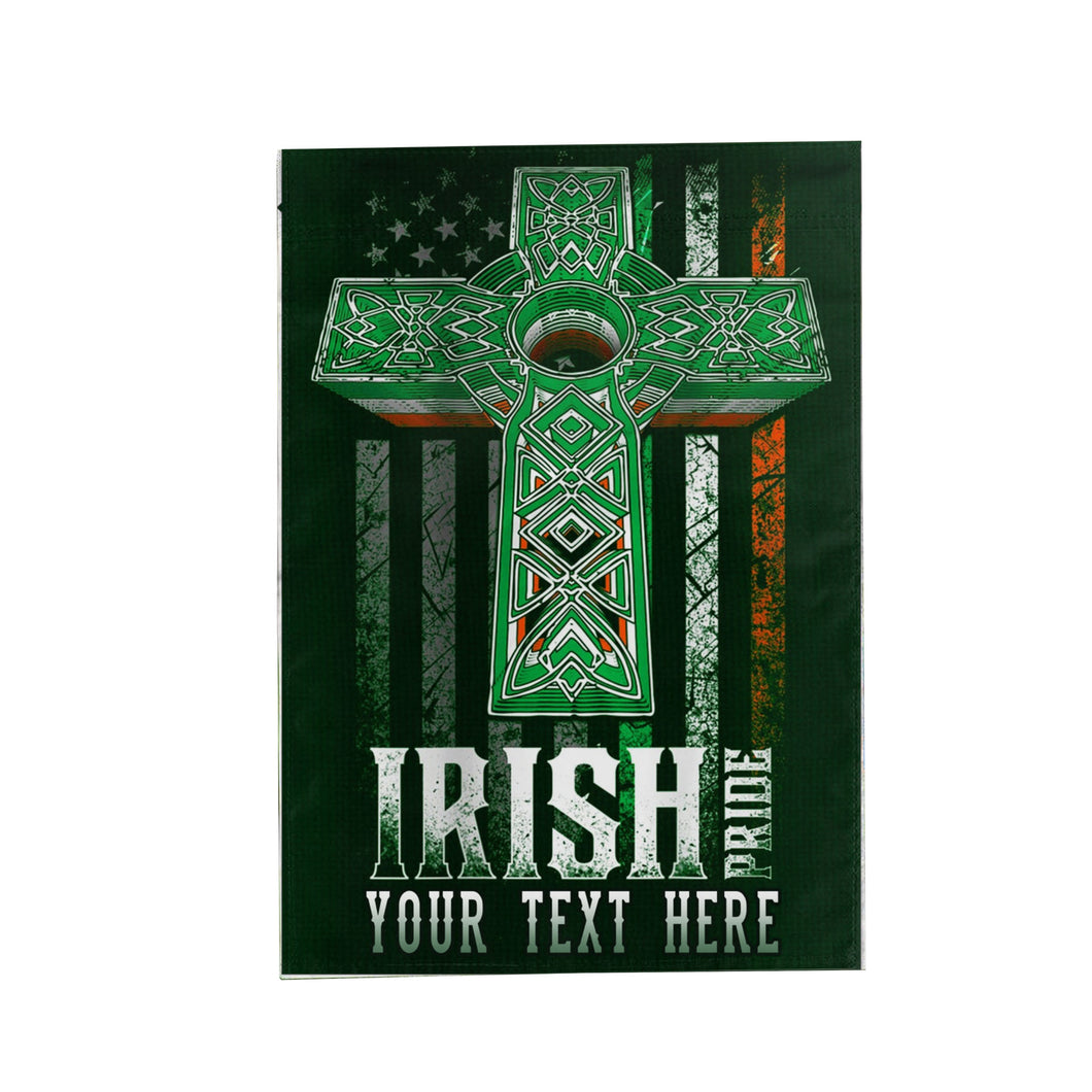 Personalized Irish Pride for St Patrick's Day GardenFlag