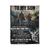 To my son from Dad Hunter - Fleece Blanket