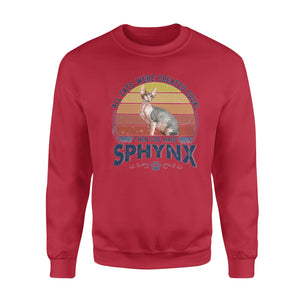 All cats were created equal Then God made Sphynx -- Standard Crew Neck Sweatshirt