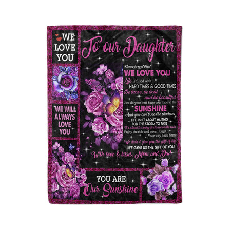 To my Daughter  - Fleece Blanket
