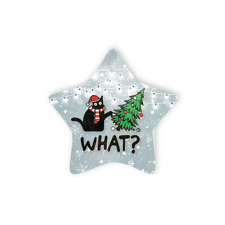 Christmas Cat - Star Ornament (1 sided)