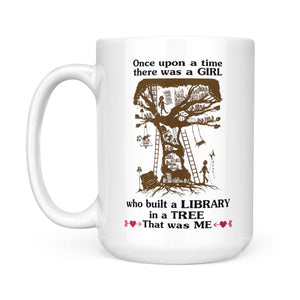 A Girl Who Built A Library In A Tree - White Mug