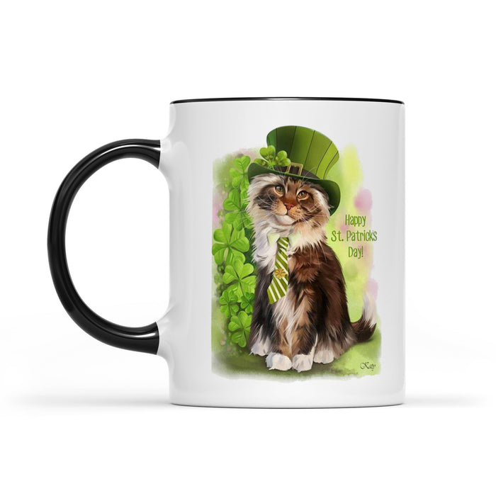 St. Catrick's Day 11oz Accent Coffee Mug, 2021 Trending Fashion Saint Patrick's Day Cat Mug