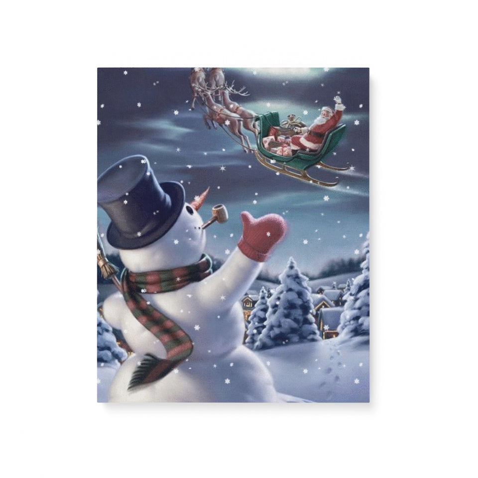 Christmas Snowman - Matte Canvas
