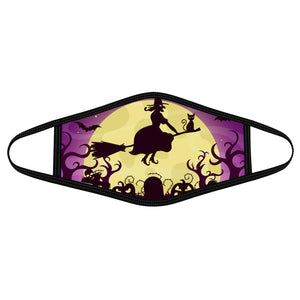 Witch flying  - Polyblend Face Mask