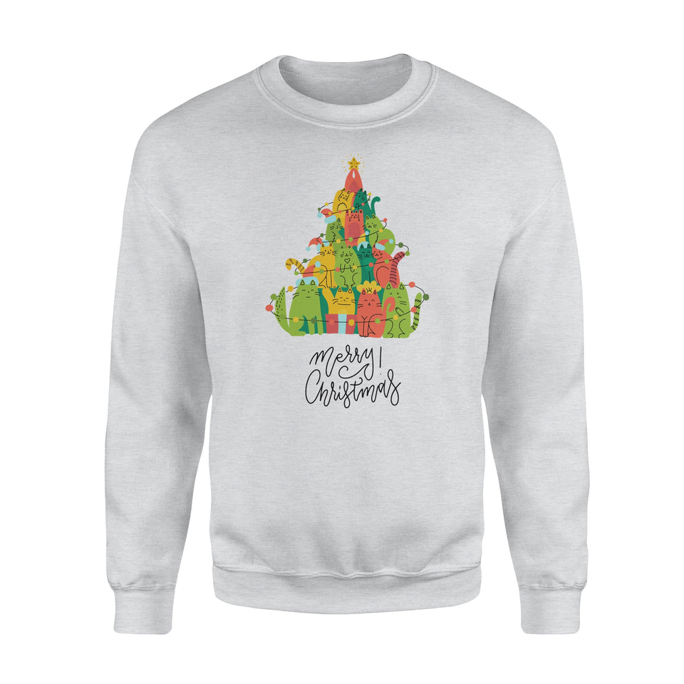 Kitten Christmas tree  - Standard Crew Neck Sweatshirt