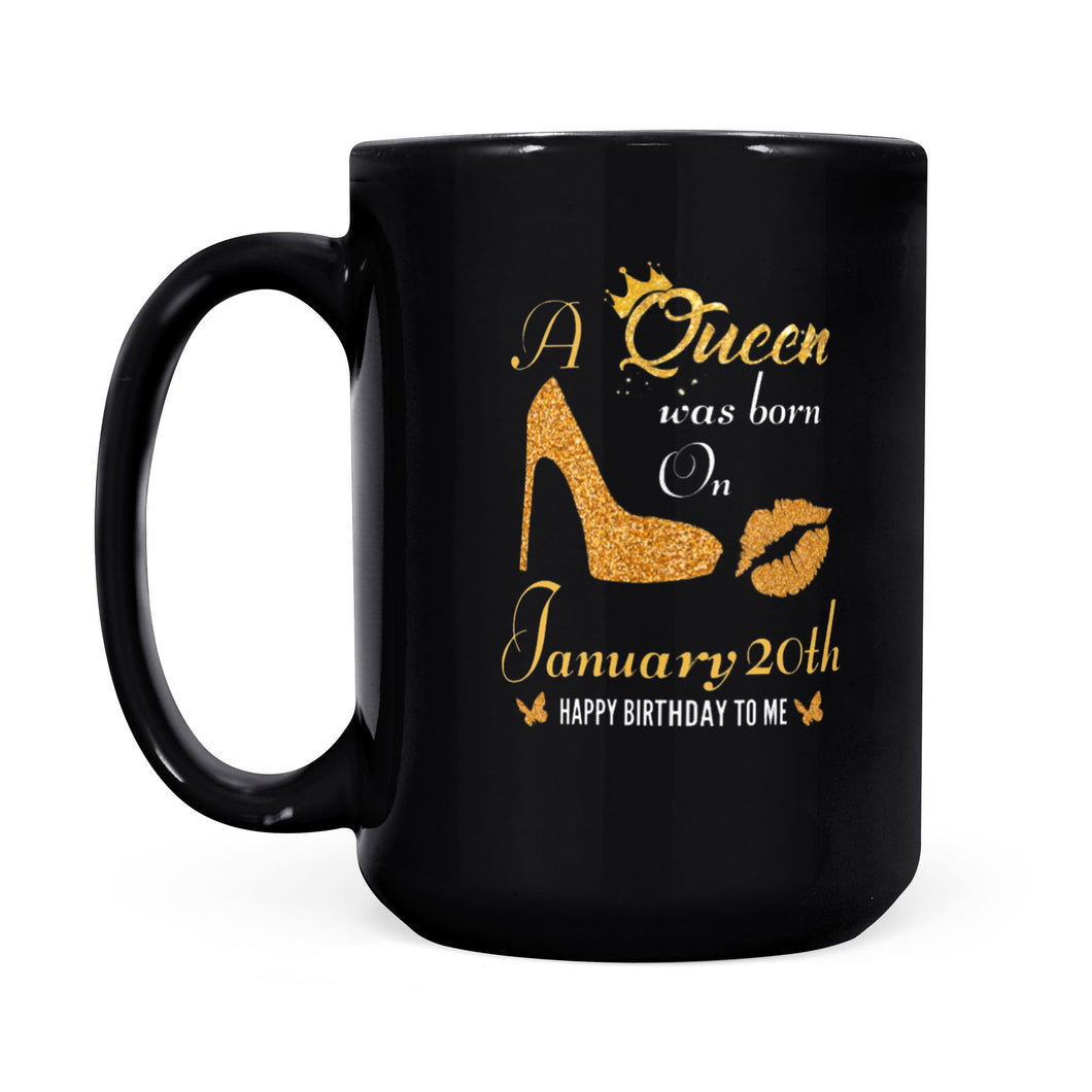 January 20th Queen - Black Mug
