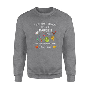 Hang Out With My Chickens- Standard Crew Neck Sweatshirt