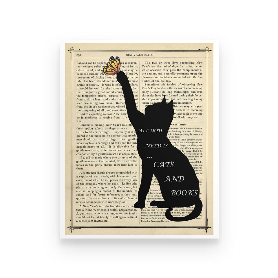 All You Need Is Books & Cats - Poster