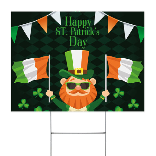 Happy ST . Patrick Day Yard Sign