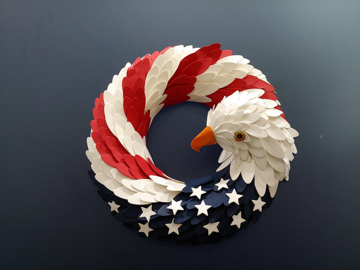 Handmade American Eagle Wreath