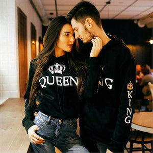 Couple Matching Hoodie King and Queen