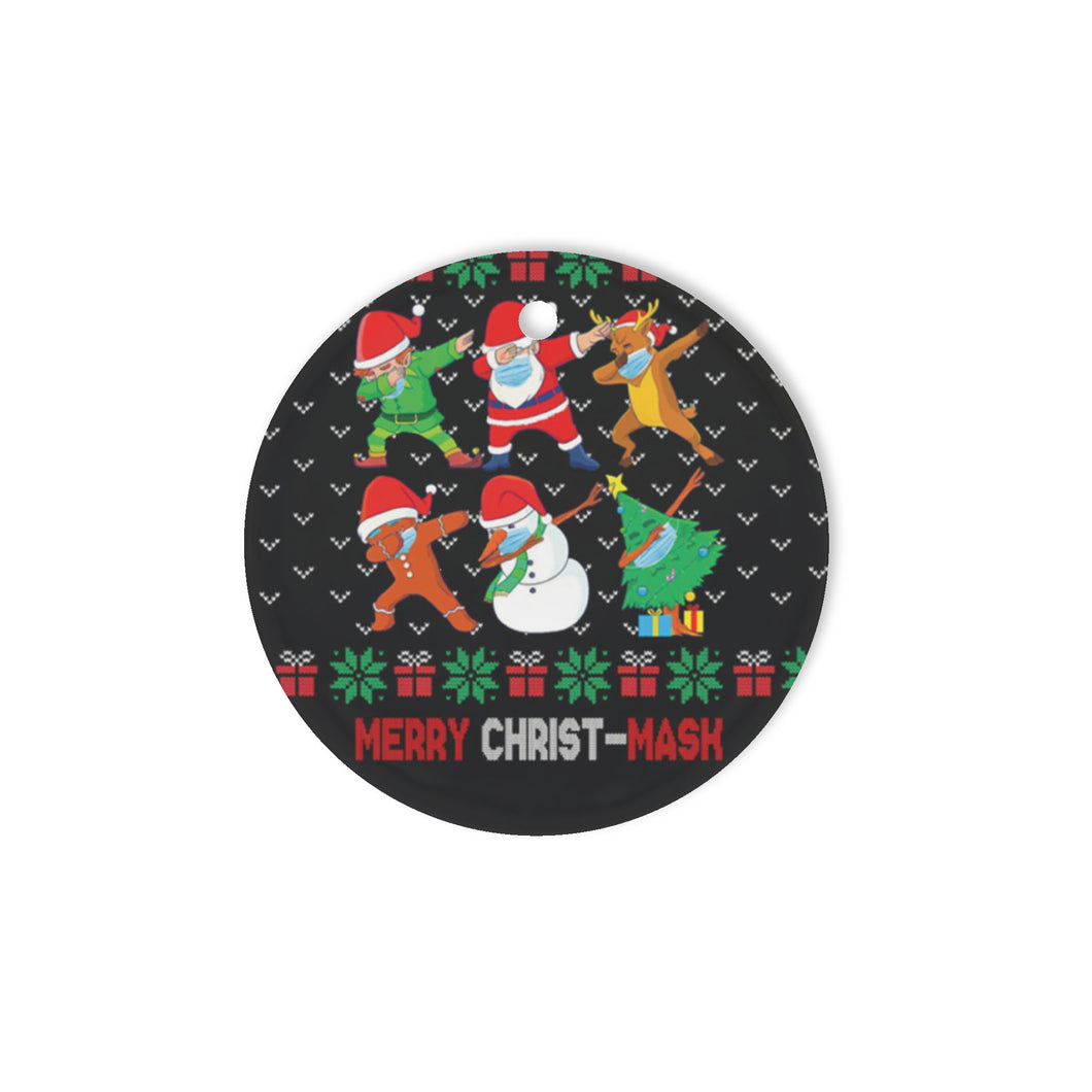 Merry Christmask - Circle Ornament (1 sided)
