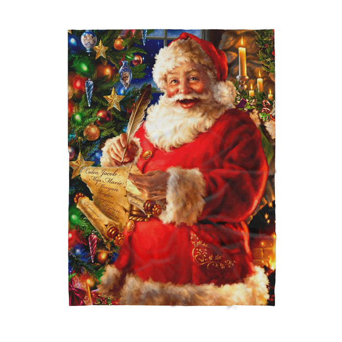 Santa writing letter  - Sherpa Blanket